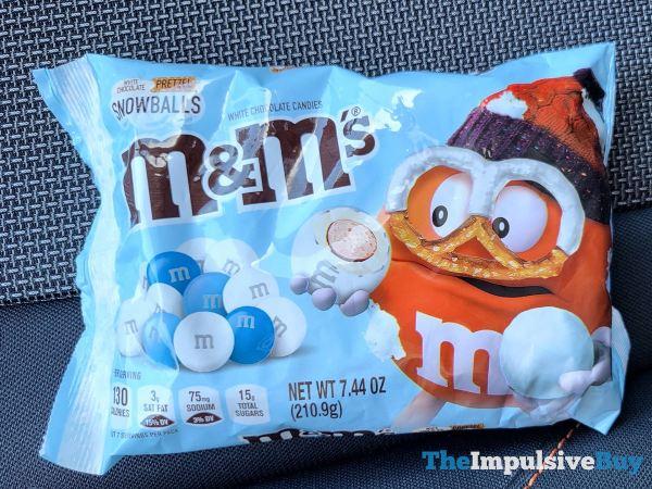 White Chocolate Pretzel Snowballs M M s