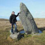 Nathanael, Standing stone, Unst, Shetlands, Scotland