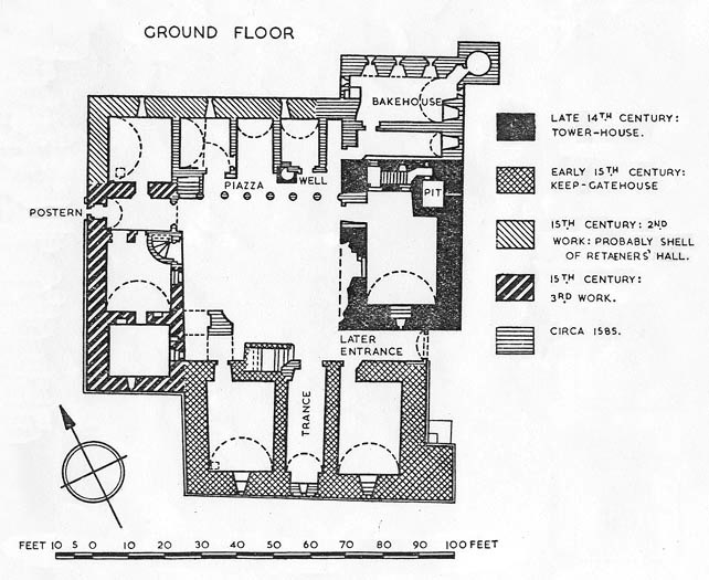 Crichton floor plan, Scotland