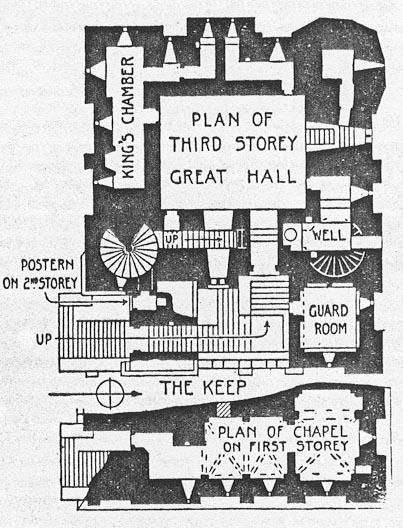 Newcastle Keep floor plan, England