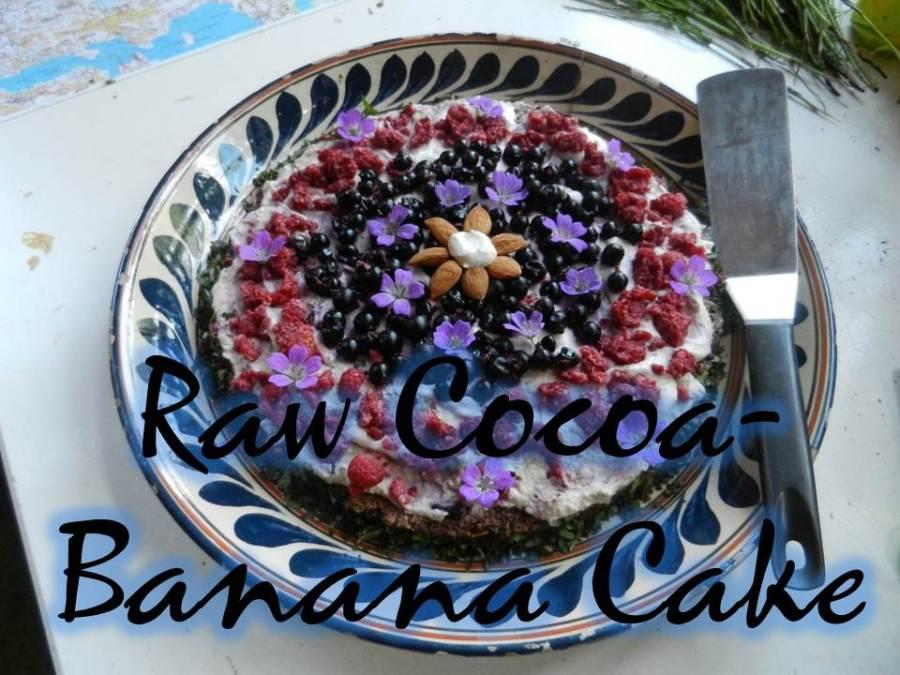 Raw Cocoa-Banana Cake