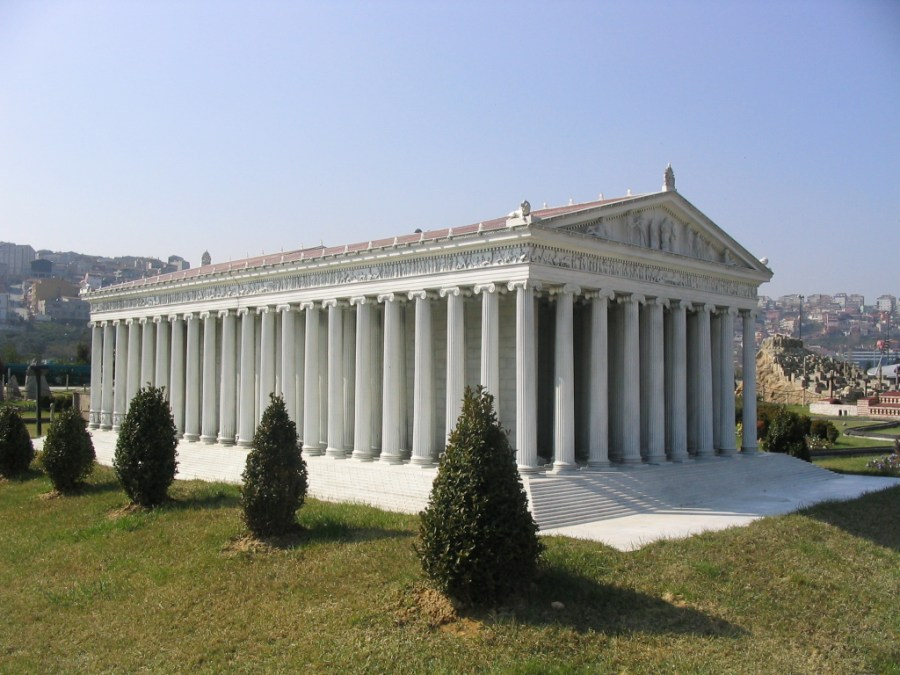 Replica of the Temple of Artemis in Miniatürk Park, Istanbul