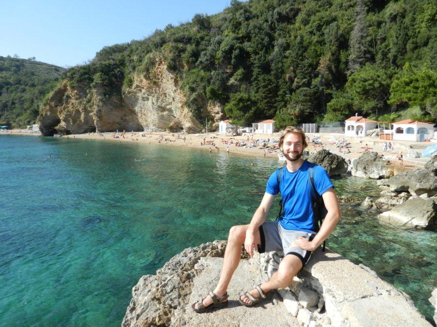 Nathanael on Mogren Beach, Budva, Montenegro