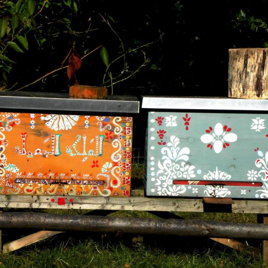 Traditional painted beehive panels, Slovenia
