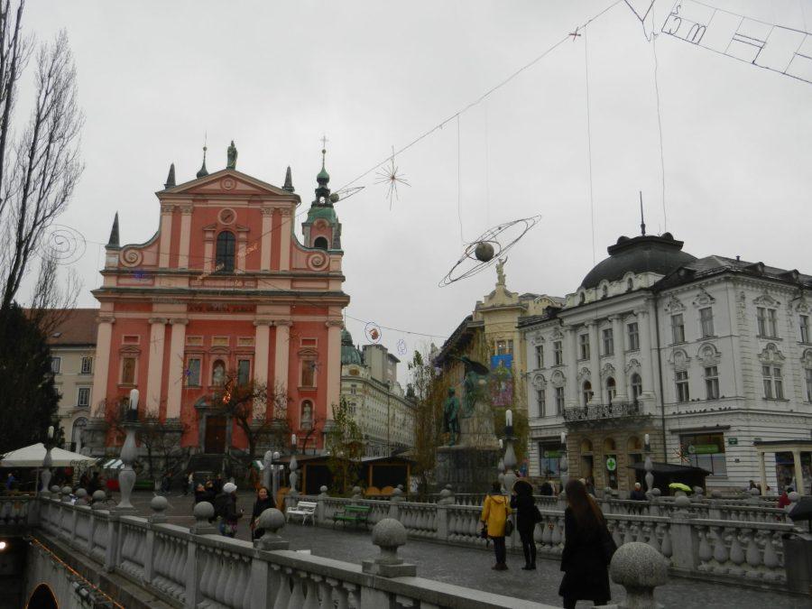 Prešeren Square, Ljubljana, Slovenia
