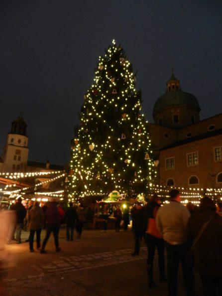 Salzburg square, Christmas market