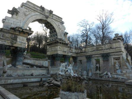 Roman Ruin at Schönbrunn Palace, Vienna, Austria