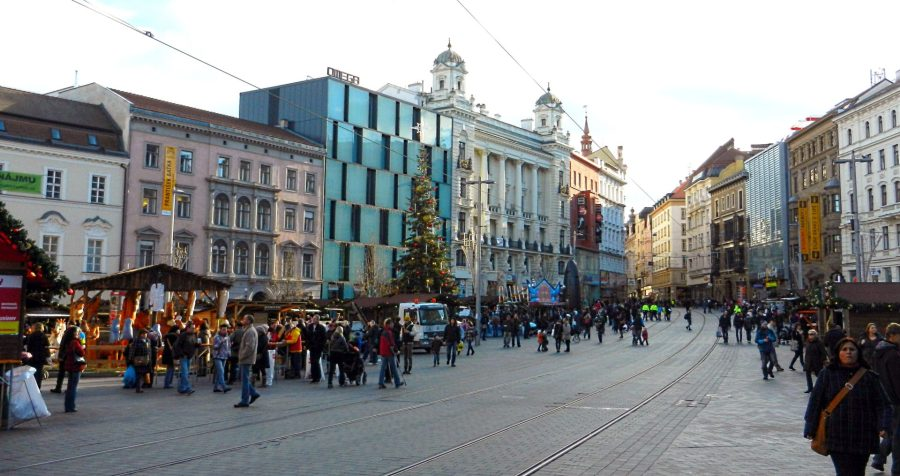 Freedom Square, Christmas, Brno, Czech Republic