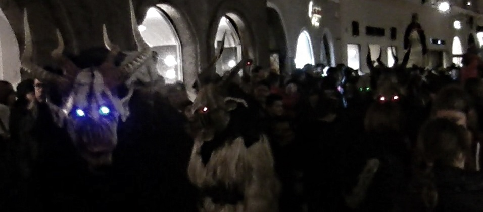The Krampus Creeps through Salzburg