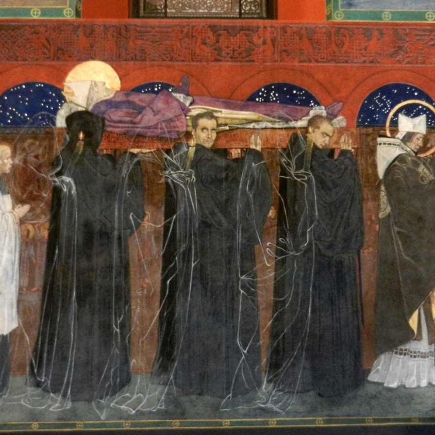 Ghostly procession in the Armenian Cathedral, Lviv, Ukraine