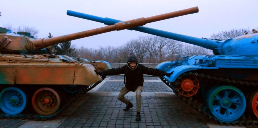 Nathanael Seperates Tanks, Mother Motherland, Kiev, Ukraine