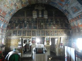 Church interior, Ethnographic Park, Cluj-Napoca