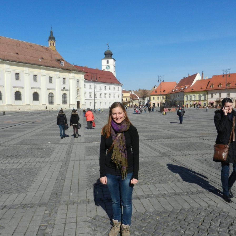Ashleigh in Piata Mare, Sibiu, Romania