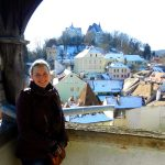 Ashleigh at Sighișoara, Transylvania, Romania