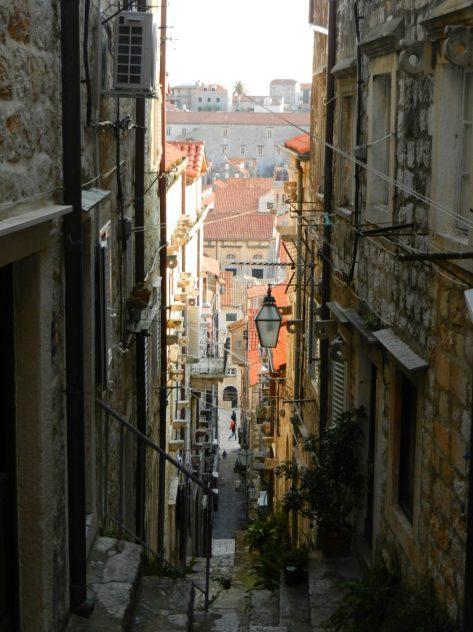 Awry alleyway Dubrovnik, Croatia