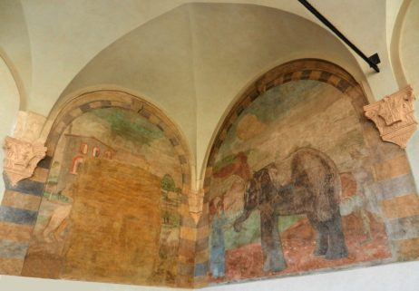 Frescoe of Elephant, Sforza Castle, Milan, Italy
