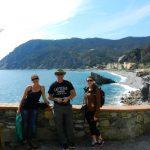 Ashleigh, Fred, Katrina, Monterosso al Mare, Cinque Terre, Italy