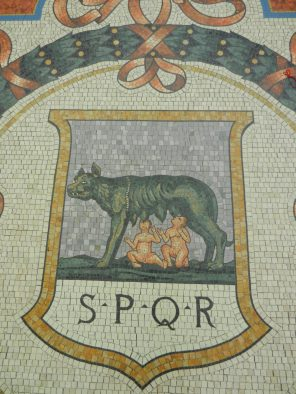 Romulus and Remus Mosaic, Galleria Vittorio Emanuele II, Milan