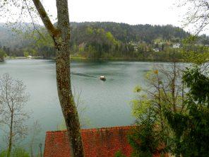 Boating on Lake Bled, Slovenia