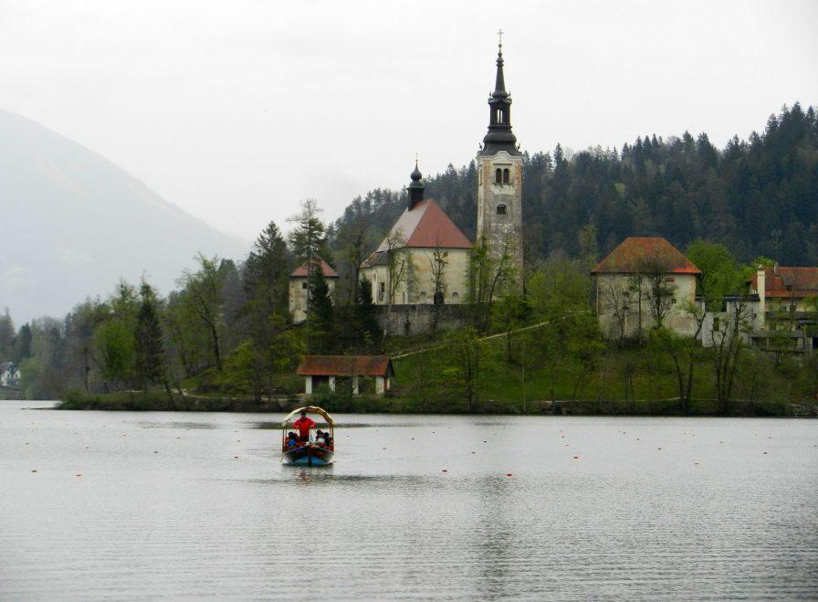 Pletna Boat, Bled Island, Slovenia