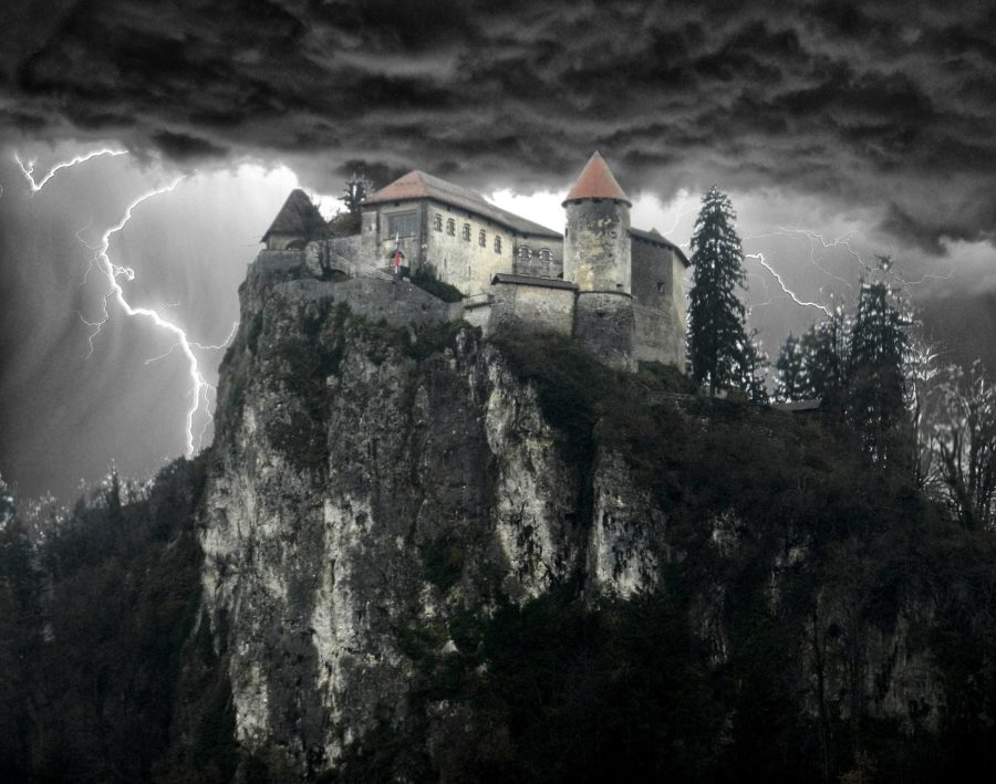 Poorly Photoshopped Castle Bled, Slovenia