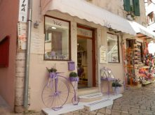 Shops on streets of Rovinj, Istria, Croatia