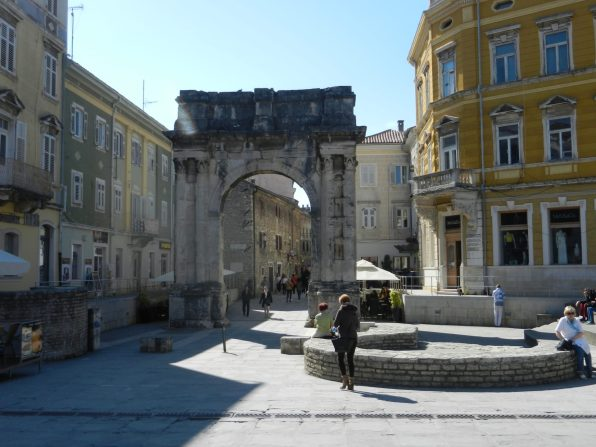 Triumphal Arch of the Sergii, Pula, Istria, Croatia