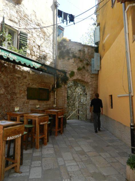 Streets of Porec, Istria, Croatia