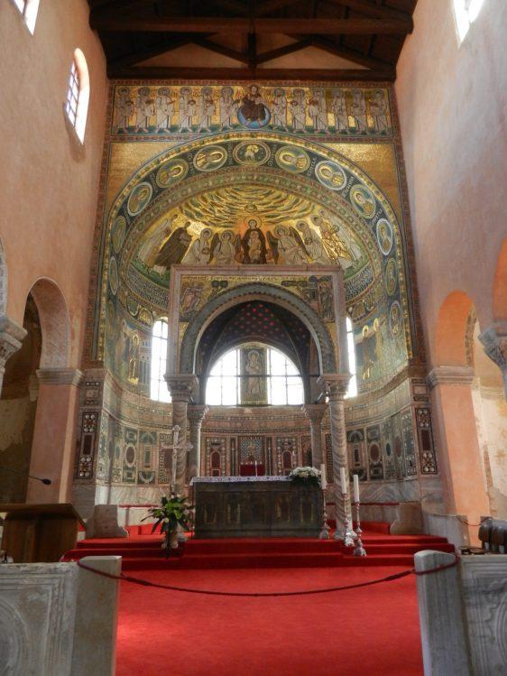 Byzantine mosaic, Main Chapel, Euphrasian Basilica, Porec, Croatia