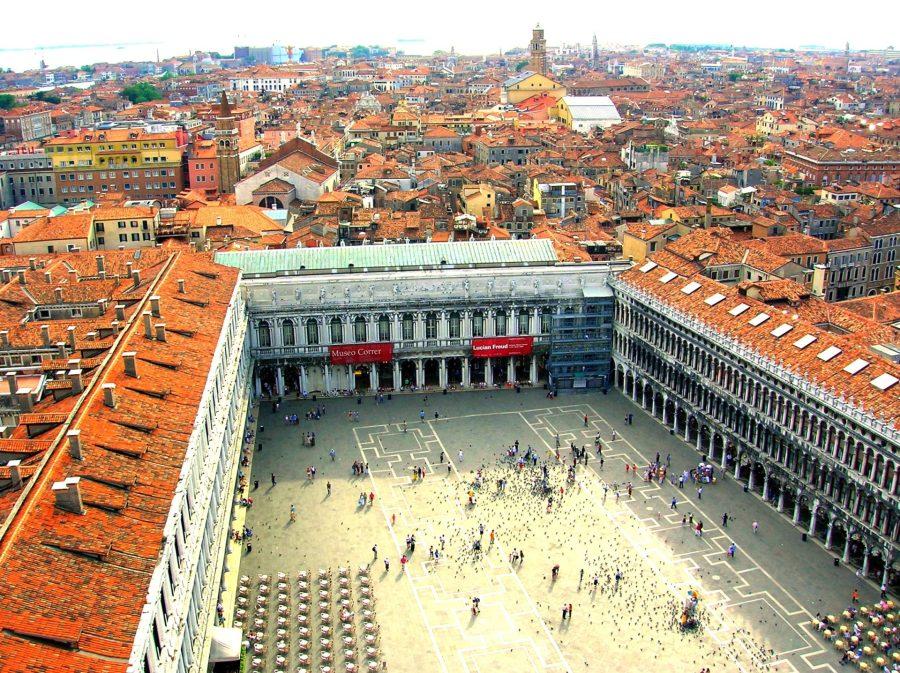 Birds Eye View of St. Mark's Square, Venice, Italy