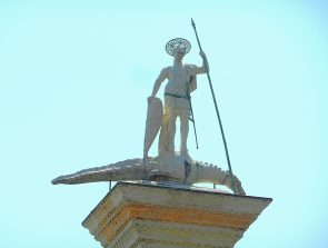 St. George the Dragon Slayer, St. Marks Square, Venice, Italy