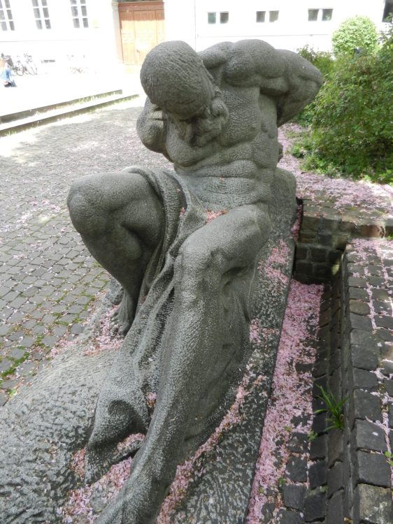 """""""Unawakened and still untamed forces of nature"""" sculpted by Herman Volz"""