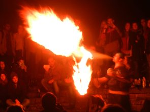 Walpurgisnacht in the Heidelberg Thingstatte, Germany