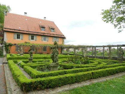 Castle gardens, Rothenburg, Germany