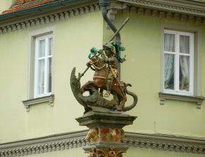 st-george-fountain-rothenburg-main-square
