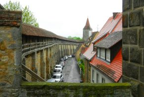 town-wall-rothenburg-germany