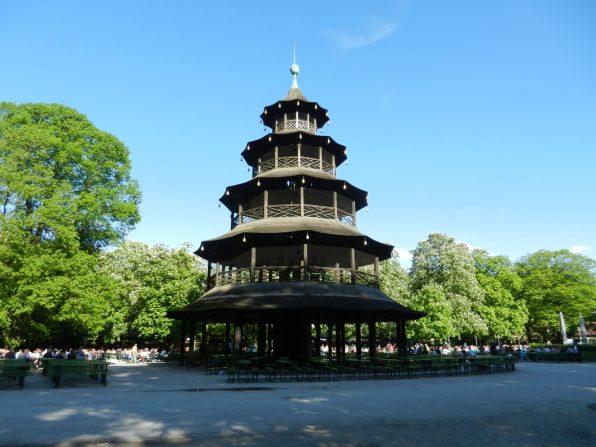 Chinese Tower, English Gardens, Munich, Germany