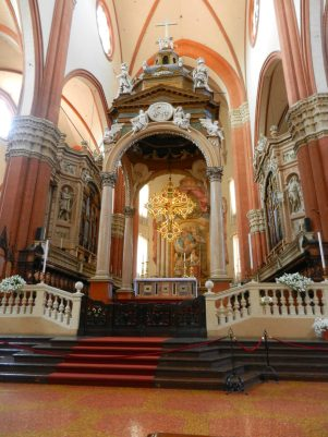 Inside Basilica di san Petronio, Bologna, Italy