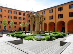 Palazza d'Accursio Courtyard, Bologna, Italy