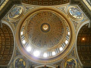 Inside the Big Dome, St. Peter's Basilica, Italy