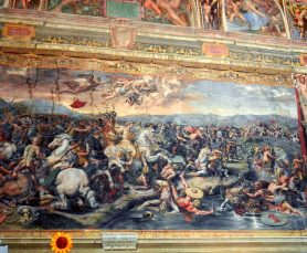 The Battle of the Milvian Bridge by Giulio Romano, Raphael Rooms, Vatican, Italy