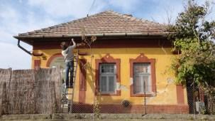 Adobe brick house, Tisziagar, Hungary
