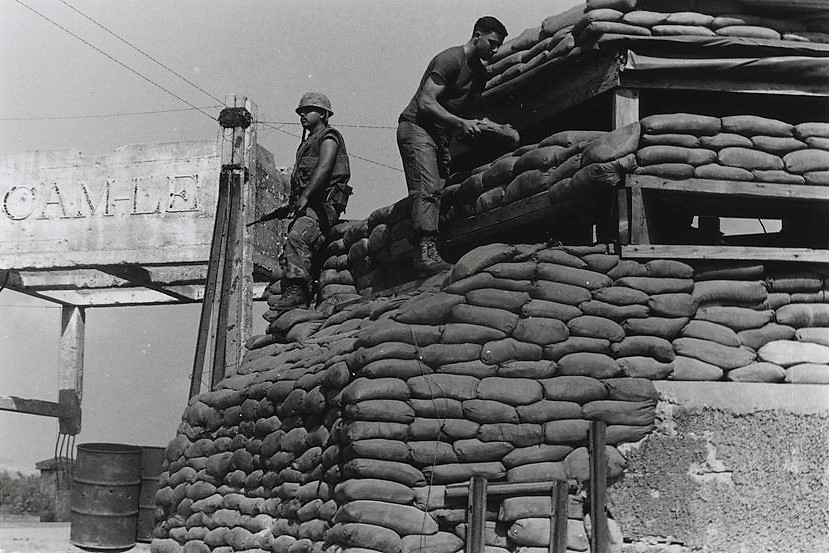 Marines Sandbag an Outpost, 1969- by Archives Branch, USMC History Division