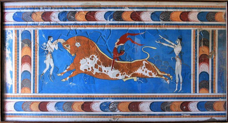 Bull Leaping Fresco, Knossos, Crete, Greece