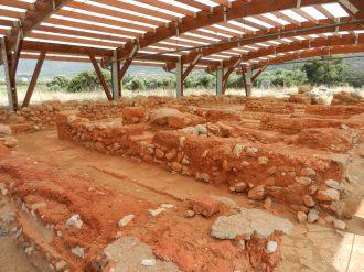 Minoan palace of Malia store rooms, Crete, Greece