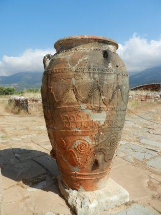 Minoan Vase in Malia, Crete, Greece