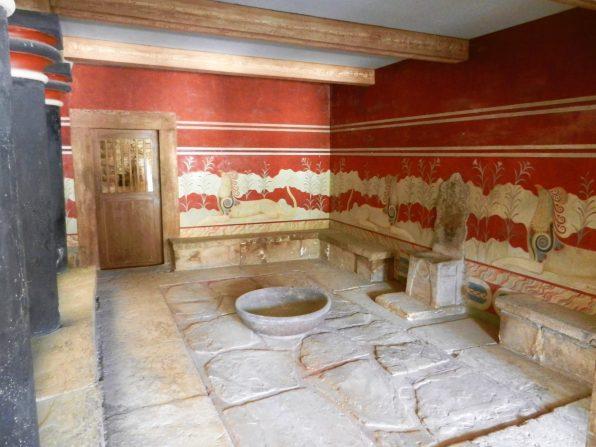 Knossos Throne Room, Crete, Greece