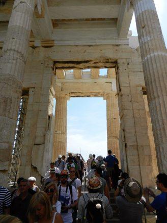 Inside the Propylaea, Acropolis, Athens, Greece