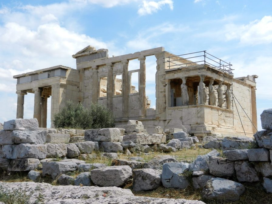 Temple of Erechtheion, Acropolis of Athens, Greece