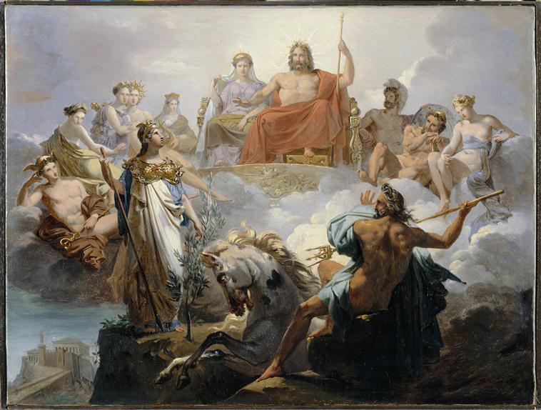 The dispute of Athena and Poseidon over Athens